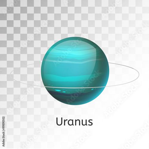 Fotografia  Uranus planet 3d vector illustration