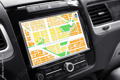 Fotografia  Navigation system in car