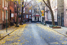 Commerce Street In The Historic Greenwich Village Neighborhood Of New York CIty