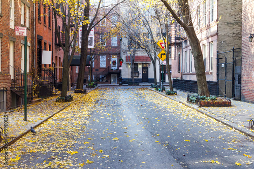Keuken foto achterwand New York Commerce Street in the Historic Greenwich Village Neighborhood of New York CIty