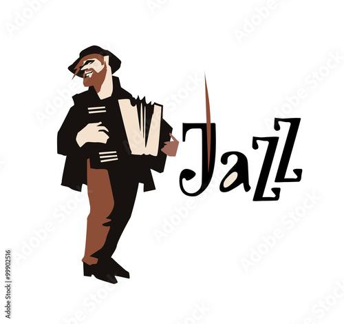 Fotografija  Man playng accordione