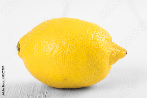Fresh Yellow Lemon On Wood Boards
