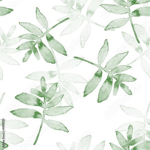 Stoffe zum Nähen Zweige. Aquarell Hintergrund. Nahtlose Muster 1