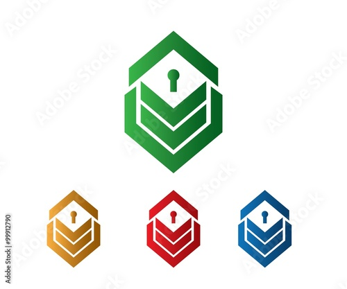 Simple Chevron House Key Hole Symbol Buy This Stock Vector And