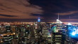 New York cityscape time-lapse from the Rockefeller building. Cropped.