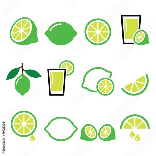 Photo  lime - food icons set