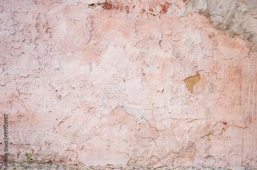 Foto auf AluDibond Alte schmutzig texturierte wand old plaster hue rose quartz