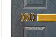 House Number 160 Sign On Door