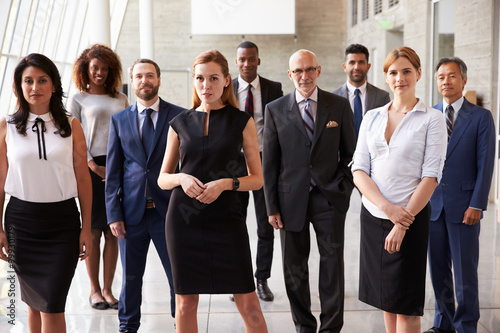Fototapety, obrazy: Portrait Of Multi-Cultural Business Team In Office
