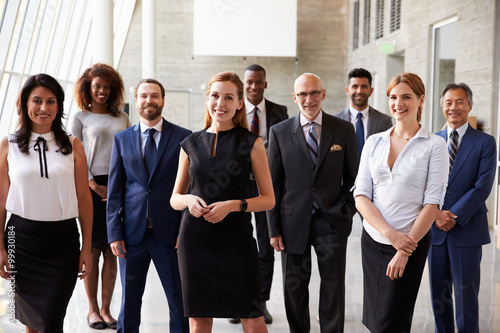 Photo  Portrait Of Multi-Cultural Business Team In Office