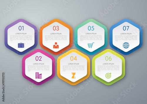 Fotografia  Infographic design template