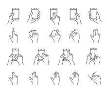 Smartphones Gesture Icons