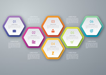 Vector Circle Hexagon Infograp...