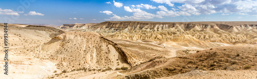 Photo Stands Drought Large Crater, Negev desert