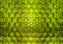 Pattern: Wall Formed By Green Bottles.