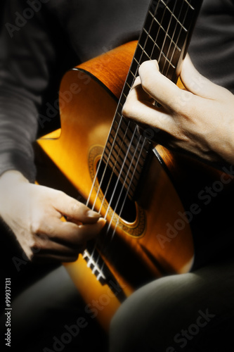 Garden Poster Music Acoustic guitar classical guitarist
