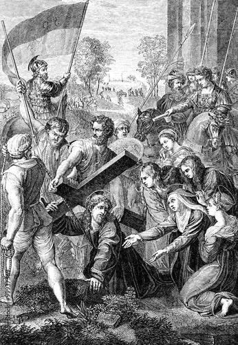 wygrawerowany-obraz-przedstawiajacy-ukrzyzowanie-jezusa-chrystusa-z-wiktorian