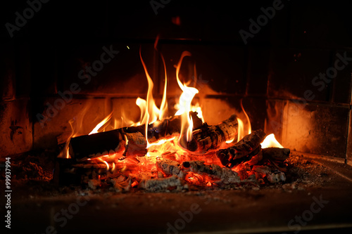 Obraz Fire place - fototapety do salonu