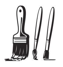 Vector Black Paint Brush