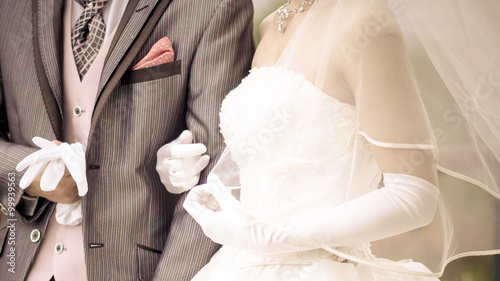 結婚式 Fototapet