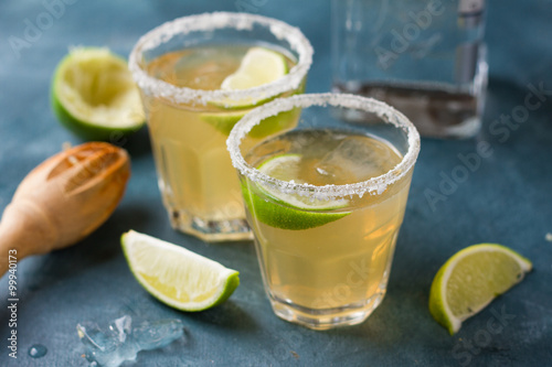Photo  Homemade classic margarita