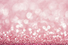 Pink Defocused Glitter Background.