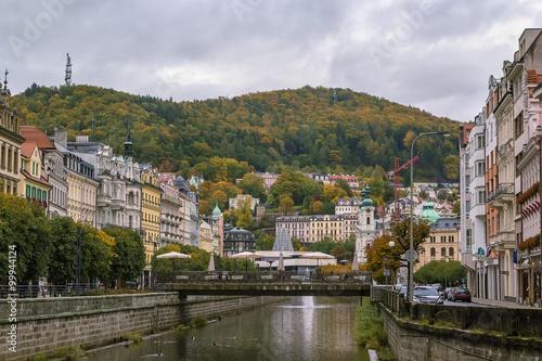 river Tepla in Karlovy Vary Poster