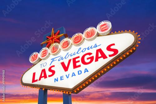 Staande foto Las Vegas Welcome To Las Vegas Neon Sign