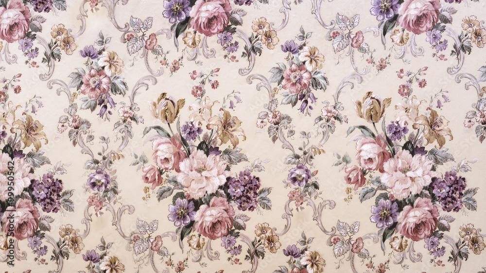 Fototapety, obrazy: Vintage floral pattern