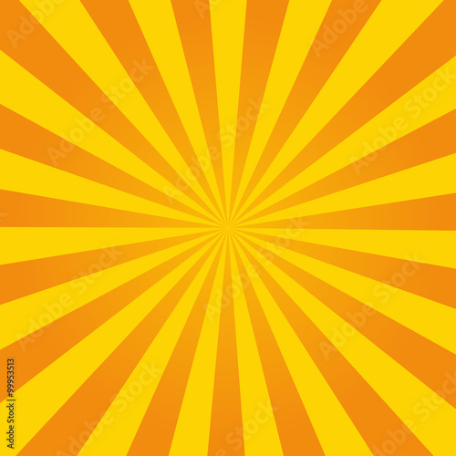 Poster  Retro ray orange background in vintage style