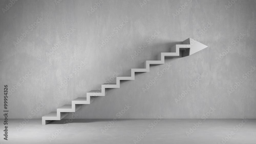 Fototapeta Business Hintergrund mit Treppe als Pfeil