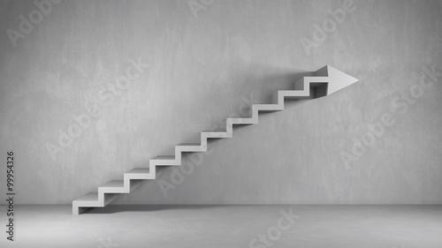 Business Hintergrund mit Treppe als Pfeil Canvas Print