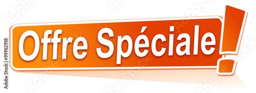 Photo offre spéciale sur étiquette orange