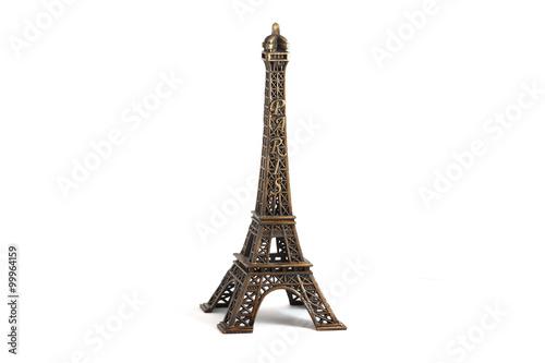 Deurstickers Eiffeltoren Eiffel Tower isolated on white