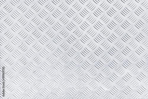 Diamond checker plate metal texture Canvas Print