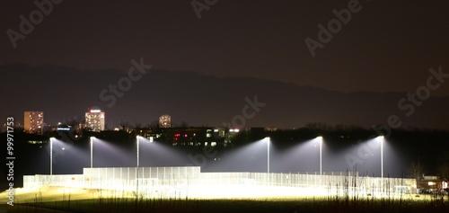 Staande foto Stadion Stadion bei Nacht