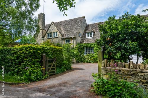 Plakat Stary dom w Burford, Anglia