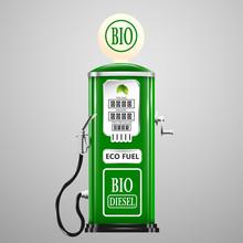 Eco Fuel, Vintage Bio Diesel Pump.