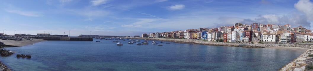 Fototapeta na wymiar Aerial view from coast village of La Guardia in Galiza Spain