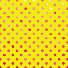Pink Yellow Metallic Foil Polka Dot Pattern Swiss Dots Texture P