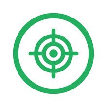 Flat Green Target Icon And Green Circle