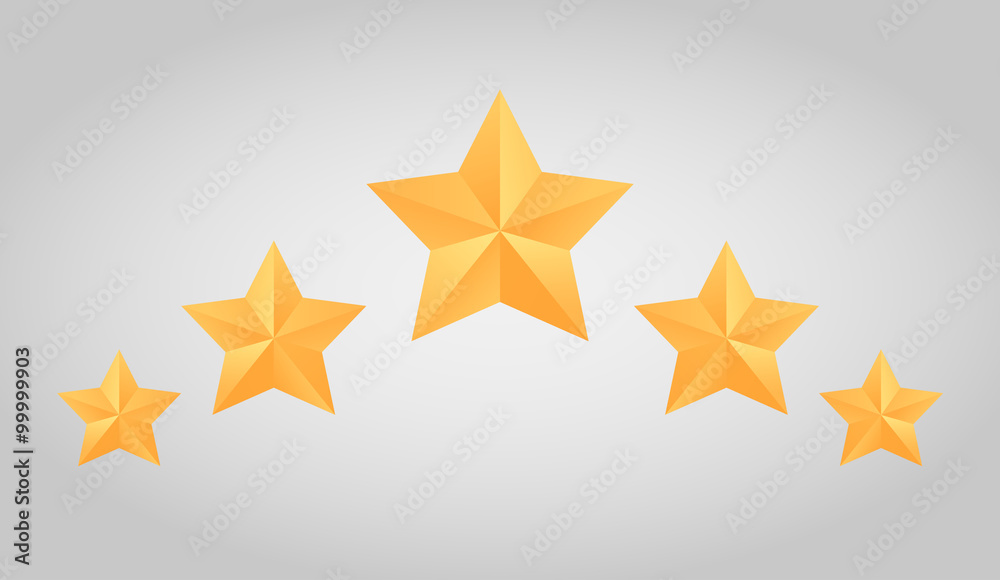 Fototapeta Set of vector paper origami star for logos, icons,