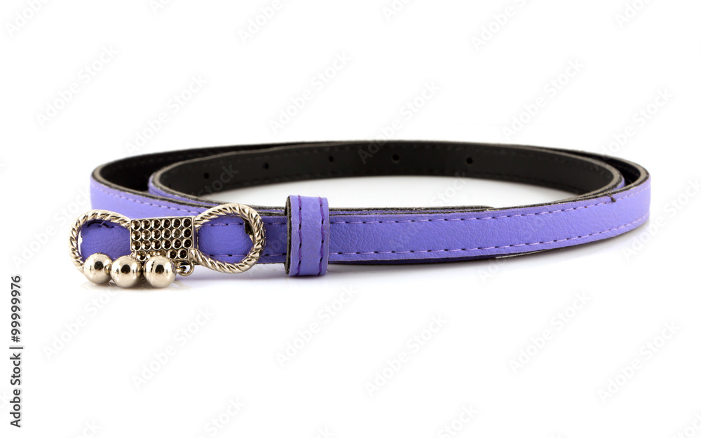 Fototapeta Women's Purple belt on white background.