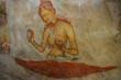 Leinwandbild Motiv the mural on mirror wall in sri lanka