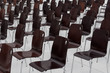 Leinwandbild Motiv empty chairs in a row