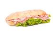 Leinwandbild Motiv Sandwich isolated