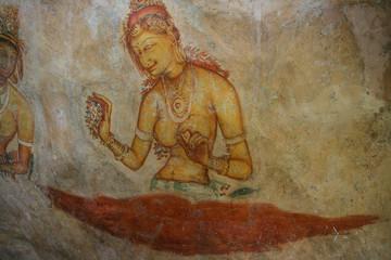 the mural on mirror wall in sri lanka