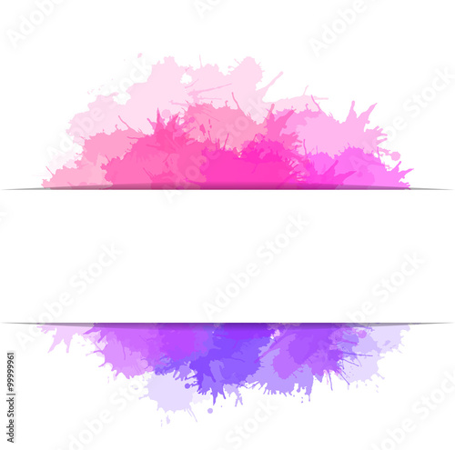Cover with colorful watercolor splashes and place for text