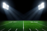 Fototapeta Sport - Football field illuminated by stadium lights