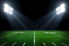 Football Field Illuminated By ...